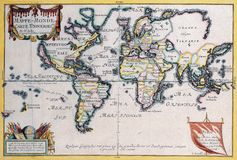 High-Quality Antique Map Royalty Free Stock Photos
