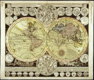 High-Quality Antique Map Stock Image