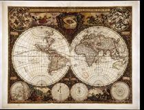 High-Quality Antique Map Royalty Free Stock Image