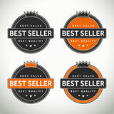 High quality best seller seals and badges. High quality best seller selas and badges for websites and print labels vector illustration