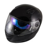 High quality Black motorcycle helmet Stock Images