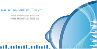 High Quality Blue Template Abstract Background Stock Photography
