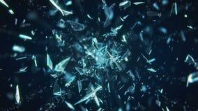 Broken Glass Exploding Against Black Background in 4K