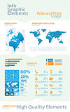 High quality business infographic Royalty Free Stock Image