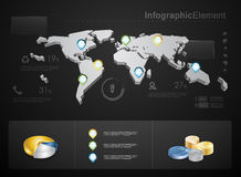 High quality business infographic elements Royalty Free Stock Images