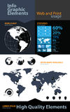 High quality business infographic elements Royalty Free Stock Image