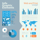 High quality business infographic elements Stock Image