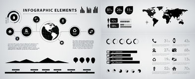 High quality business infographic elements Royalty Free Stock Photo