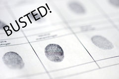 High quality Busted fingerprints Stock Image