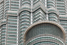 High quality close up view of  The Petronas Twin Towers. Stock Images