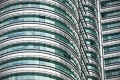 High quality close up view of  The Petronas Twin Towers. Royalty Free Stock Photos