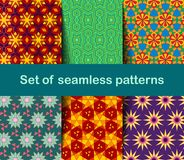 High-quality colorful wallpaper in Islamic or Arabic style. Seamless asian patterns for backgrounds and invitations. Girih arabic stock illustration