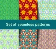 High-quality colorful wallpaper in Islamic or Arabic style. Seamless asian patterns for backgrounds and invitations. Girih arabic vector illustration