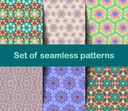 High-quality colorful wallpaper in Islamic or Arabic style. Seamless asian patterns for backgrounds and invitations. Girih arabic royalty free illustration