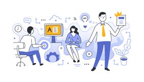 High-Quality Content Production stock illustration