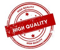 HIGH QUALITY distressed red stamp. Illustration graphic concept Royalty Free Stock Photos