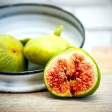 Vintage fig fruit canvas and poster Royalty Free Stock Photo