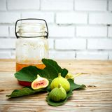 Vintage fig fruit canvas and poster stock image