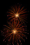 High quality firework over night sky long exposure Stock Photos