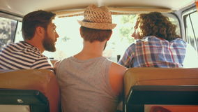 In high quality format hipster friends on road trip stock video