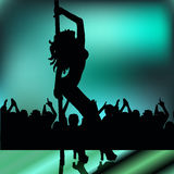 High quality girl striptease in club poledance go-go dance Royalty Free Stock Photography