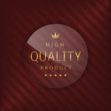 High quality glass label Royalty Free Stock Photos