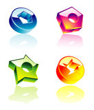 High quality glossy design elements Royalty Free Stock Photos