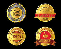 High quality golden badge Royalty Free Stock Photography
