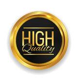 High Quality Golden Medal Icon Seal  Sign  on White Back. Ground. Vector Illustration EPS10 Royalty Free Stock Photos