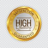 High Quality Golden Shiny Label Sign. Vector Illustration. EPS10 royalty free illustration