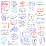 High Quality grunge Passport Stamp collection. A high quality collection of vector passport stamps Royalty Free Stock Images