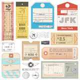 High Quality grunge Passport Tags, Tickets and stamps Royalty Free Stock Image