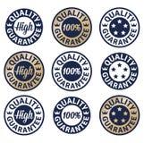High quality guarantee set label. Illustration Royalty Free Stock Photo