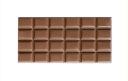 High quality handmade milk chocolate bar isolated Royalty Free Stock Photos