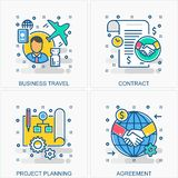 Business icons and concepts illustrations royalty free illustration