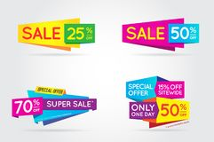 Set of Sale Sign Banner Poster ready for Web and Print. Vector. Stock Photography