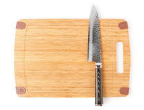 High quality japanese knife on cutting board Stock Photo