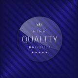 High quality label. Glass badge with silver text, Luxury emblem Stock Images