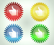 High Quality labels. Vector set of high quality labels in red, golden, blue n green colors Stock Photos