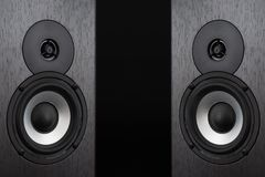High quality loudspeakers.Hifi sound system in shop for sound recording studio.Equipment for record studios.Buy dj equip in music. Store. Professional hi-fi stock photos