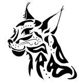 High quality lynx head tattoo Royalty Free Stock Image