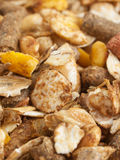 High quality natural sportive  muesli background. for horse. Royalty Free Stock Image