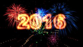 High quality 2016 New Year animation.. HD stock video