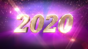 New Year 2020 countdown animation stock illustration