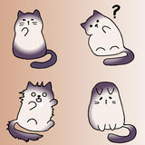 High quality original illustration of cute cat. Set of cute cats vector illustration