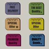 High quality original set of sale signs, special offer, premium Royalty Free Stock Photos