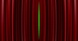 High quality perfectly red curtain opening movement background. Green screen included