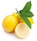 High-quality photo ripe lemons on a white Royalty Free Stock Photo