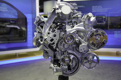 EcoTec3 4.3-Liter V-6 Engine. A high quality picture of EcoTec3 4.3-Liter V-6 Engine from the 2013 New York International Auto Show. The 2014 Chevrolet Silverado Royalty Free Stock Photography