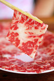 High quality premium beef sliced Stock Image